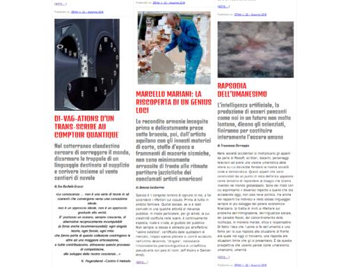 ZRAlt! Il numero 22 della rivista trimestrale multimediale è online